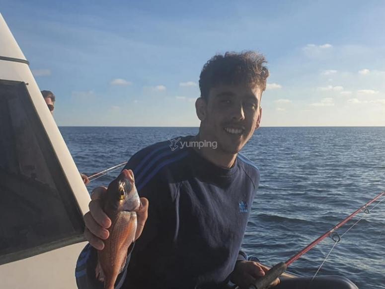 La captura de un día de pesca