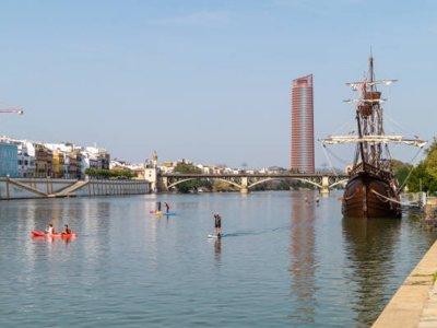 Alquiler de paddle surf por el Guadalquivir 2 hrs