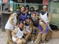 Playing paintball at the farewell