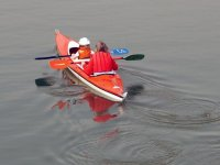 In a tandem boat