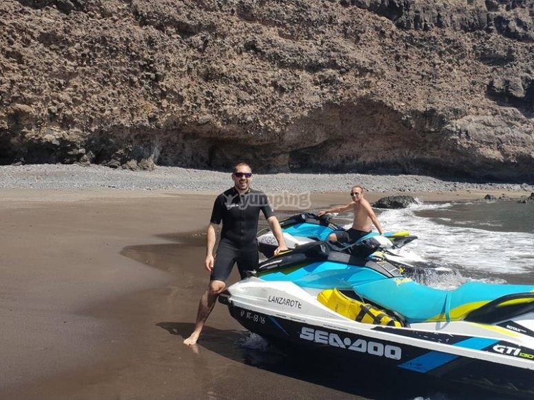 穿越兰萨罗特岛的喷气滑雪之旅