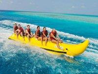 Activity in a banana boat