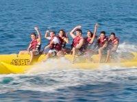 Fun in a banana boat