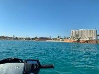 Views of Alicante on a jet ski