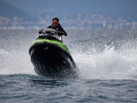 Riding the waves on a jet ski