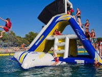 Inflatable slide in the water park