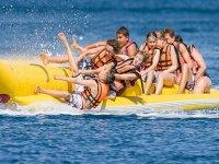 Activity on the banana boat