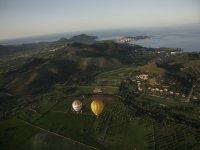Hot air balloon route