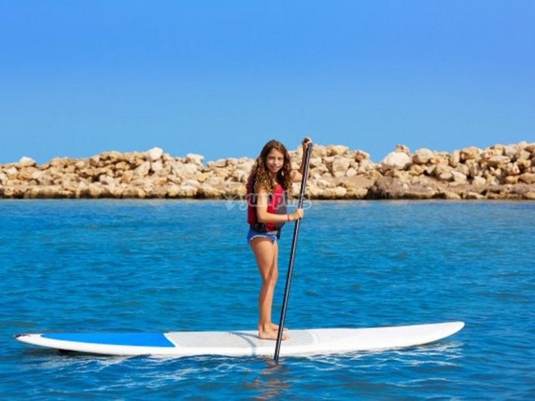 Excursión de paddle surf con niños por Los Cristianos