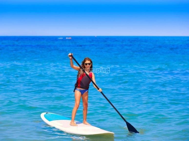 Salida de paddle surf con niños por Tenerife