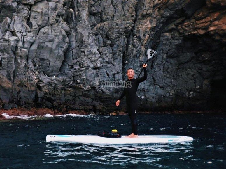 Ruta de paddle surf por Los Cristianos