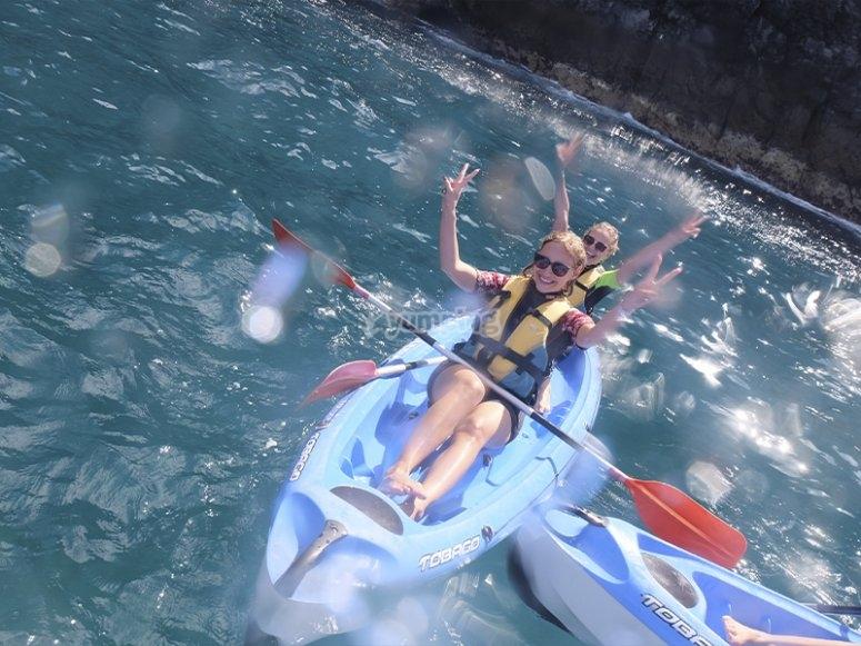 Ruta de kayak con snorkel por Los Cristianos