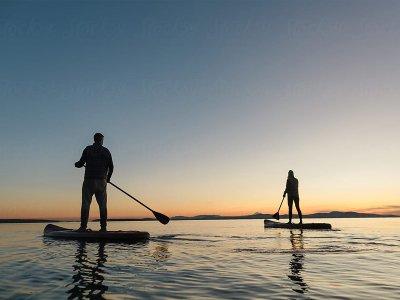 Ruta de paddle surf por la bahía de Baiona 2:30 h