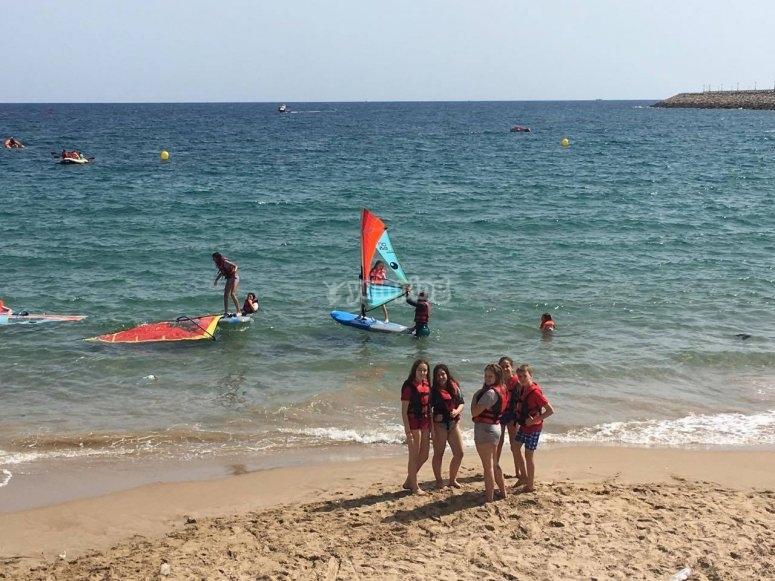 Escuela de verano con clases en la Playa de Heliópolis