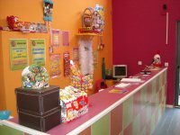 Counter with sweets