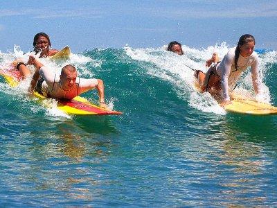 Clase de surf privada por la bahía de Baiona 2 h