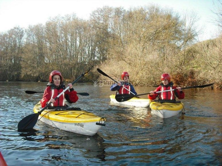 Guided kayaking trips