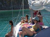 船上日光浴景观