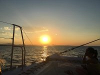 Sunset on the boat on the Costa Blanca