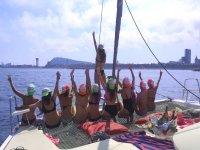 Bachelor party on the beach of Dénia