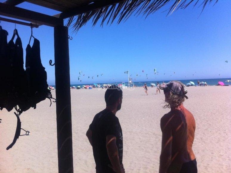 Accanto alla spiaggia
