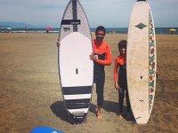 Listos para hacer surf