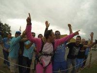 Celebrating the jump