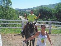 Caballos en el rancho
