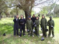 Play paintball with your friends
