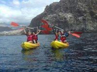 Salida en dos kayaks en Tenerife