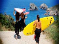 Surf courses in Asturias