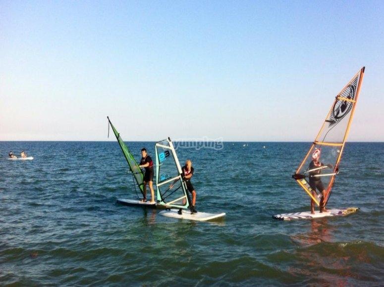 Windsurfing lesson