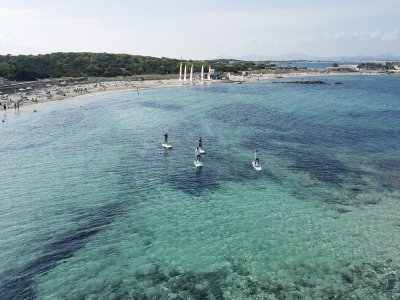 Alquiler de equipo de paddle surf en Es Pujols 2 h