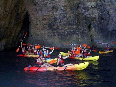 Tour en kayak niños bajo luna llena a Punta Prima