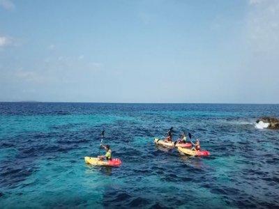 Alquiler de kayak doble en costa de Es Pujol 2 h