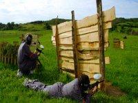 Jugando al paintball en Asturias