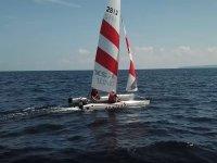 Catamarán navegando en Formentera