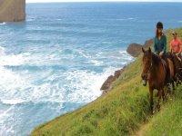 Through the coast by a horse