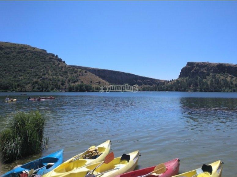 Alquiler de kayaks en el Embalse de las Vencías