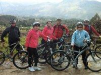 Family mountain bike excursion