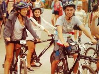 Montando en bici en Asturias