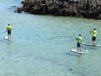Paddle surf on the Asturian coast