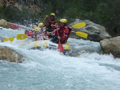 Whitewater rafting in Guadiela river, adults