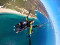 Portugal's coast in paragliding