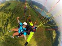 Landscapes of Portugal in paragliding