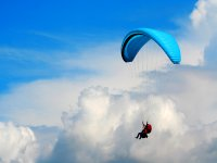 Tandem paragliding Portuguese skies