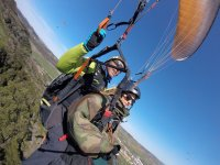 Tandem paragliding maneuvers Portugal