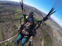 Montijo tandem paragliding passenger