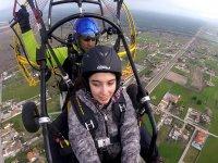 Sorvolando il paracadutista del Portogallo
