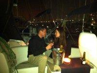 Romantica cena a bordo